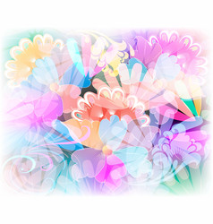 glowing colorful floral seamless pattern vector image