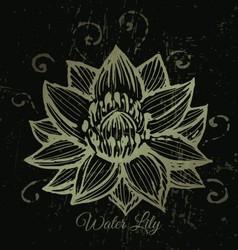 Golden lotus background vector