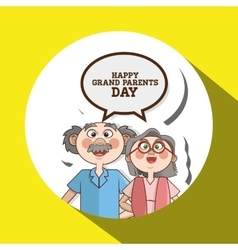 Grandparents graphic vector image