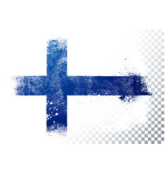 grunge and distressed flag finland vector image