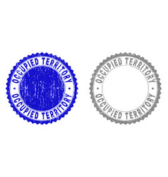 Grunge occupied territory textured watermarks vector