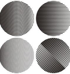 Halftone round textures vector image