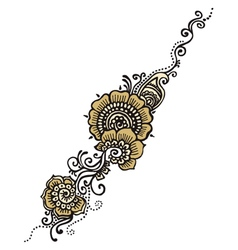 Henna Indian Paisley vector image