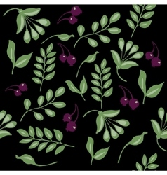 high quality original semless pattern with leaves vector image