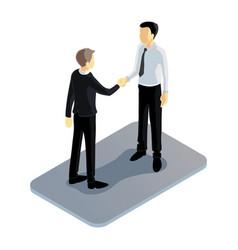 Isometric handshake vector
