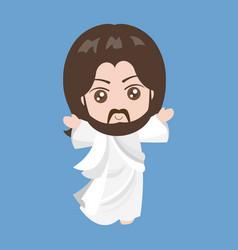 jesus rising vector image