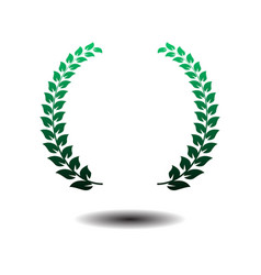 laurel wreath icon isolated on white background vector image