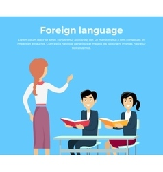 Learning a Foreign Language Conceptual Banner vector