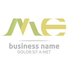 letter m combination e alphabet lettering vector image