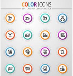 Machine tool icons set vector