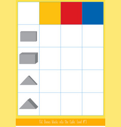 Matching game with dienes blocks vector