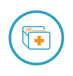 Medical records icon flat design vector
