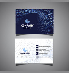 modern business card with halftone dots design vector image