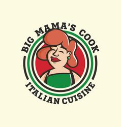 modern professional emblem logo big mamas vector image