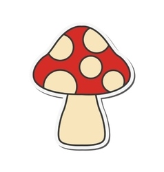 Mushroom spots icon vector