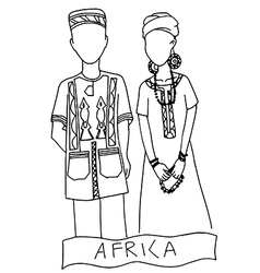 national costume for africa vector image