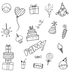 Party element doodle art vector
