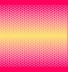 pattern halftone geometric seamless hexagon vector image