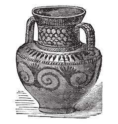 Phoenician vase vintage engraving vector image