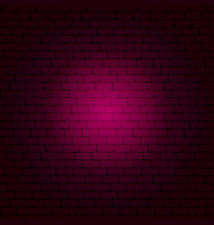 pink brick wall vector image