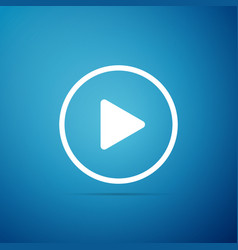 play icon isolated on blue background vector image