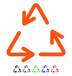 Recycle arrows flat icon vector