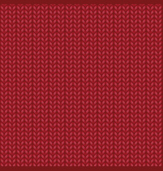 Red realistic knit texture seamless pattern vector