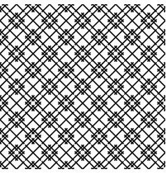 Seamless japanese pattern shoji kumiko in black vector