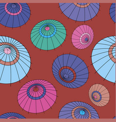 seamless pattern with colourful japan vector image