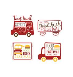 set creative logo templates for food vector image