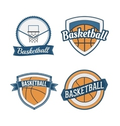 Set of Basketball vintage Design Labels vector image
