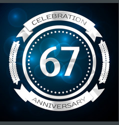Sixty seven years anniversary celebration with vector