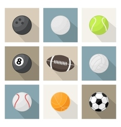 Sport balls icons vector