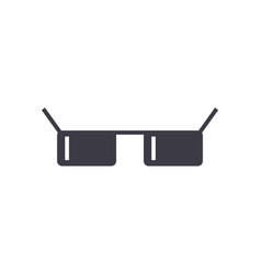 sunglasses line icon sign on vector image