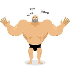 Surprised Muscled says oops Spaortsmen perplexed vector