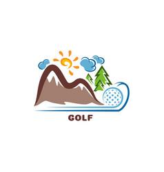 template golf logo funny cartoon colored logo vector image