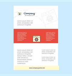 template layout for website programming comany vector image