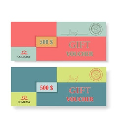 Two original vouchers on a white background vector image