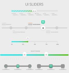 UI sliders vector image