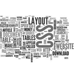 why a css website layout will make you money text vector image