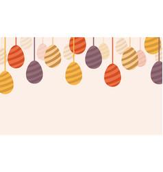 happy easter egg design art vector image vector image