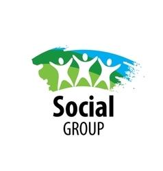 Logo social group vector
