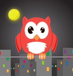 owlet in the night city vector image vector image