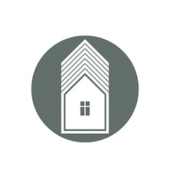 Real estate icon abstract house Property developer vector image vector image