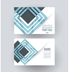 business card template design vector image vector image