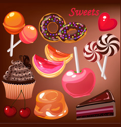 candy objects vector image