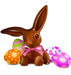 chocolate Easter bunny vector image
