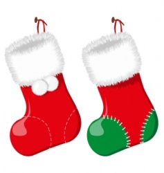 Christmas sock vector illustration vector image vector image
