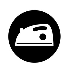 iron clothes isolated icon vector image