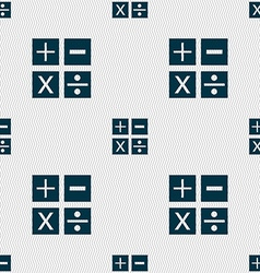 Multiplication division plus minus icon Math vector image